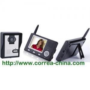 China 2.4GHz digital wireless video door phone intercom system on sale