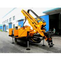 Long Feeding Stroke Engineering Drilling Rig , Full Hydraulic Crawler Drilling rig Manufactures