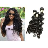 Black Loose Body Wave Natural Human Hair Extensions Weft , Healthy  Eurasian Virgin Hair Manufactures