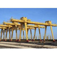 Outside Industrial Double Beam Gantry Crane Rail Mounted With Hook High Strength Manufactures