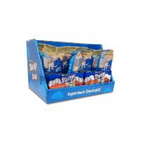 Eye Catching Blue Cardboard Counter Display Boxes , Custom POS Counter Top Displays Manufactures