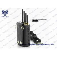 Quality Silver Color Portable Cell Phone Jammer CDMA GSM DCS PCS 3G Efficient Range 0 - 20 Meters for sale