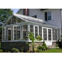 Modern Green Aluminium Greenhouse Polycarbonate , Portable Small Aluminium Greenhouse Manufactures