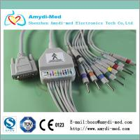 Nihon Kohden ekg cable with din3.0, 10/12 lead ekg cable, medical ecg ekg cable Manufactures