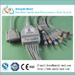 Nihon Kohden ekg cable with din3.0, 10/12 lead ekg cable, medical ecg ekg cable Manufactures