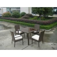 China Synthetic Rattan Garden Dining Sets , Cafe Balcony Chair Set on sale