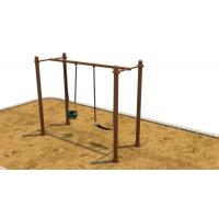 H Shape Outside Swing Sets For Children , Small Swing Sets For Kids Manufactures