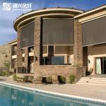 Outdoor Hotel Garden Blackout Blind FabricWaterproof Prevent Harmful Elements Manufactures