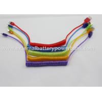 Spring Led Micro USB Data Transfer Cable for Samsung / samsung galaxy Manufactures