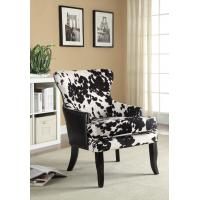 Wingback Patterned Upholstered Dining Chairs With Solid Wood Legs Manufactures
