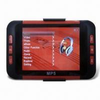 1 to 8GB MP5 Player with 3.5-inch TFT Screen, FM Radio and Card Slot, Supports TV Output Manufactures
