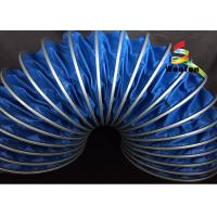 Quality High Temp 125mm HVAC Flex Duct PVC Flame Proof Environmental Friendly for sale