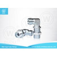 6D9 90 Degree Hydraulic Bulkhead Bite Type Tube Fitting Metric Male 24 Degree H.T. Manufactures