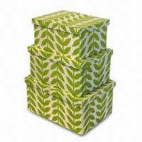 Woven Paper Toy Storage Box in Fashionable Design, Available in 20, 16, and 12 Inches Dimensions Manufactures