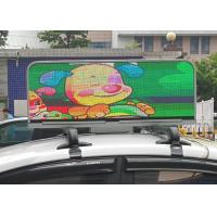 Yellow Taxi Topper Full Color auto led sign Video CE / ROHS / FCC / ETL / TUV Manufactures