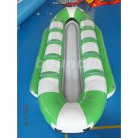 10 Persons Inflatable Banana Boat / Commercial Banana Boat Rider For Water Games Manufactures