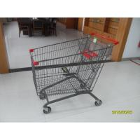 Buy cheap CE / GS Mesh Wire Shopping Trolley 210L With Zinc Plated Colorful Powder Coating from wholesalers