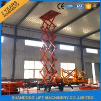 China 500kgs Hydraulic Hydraulic Lift Table Mobile Aerial Work Platform with 4 Wheels 8m Lifting Height on sale