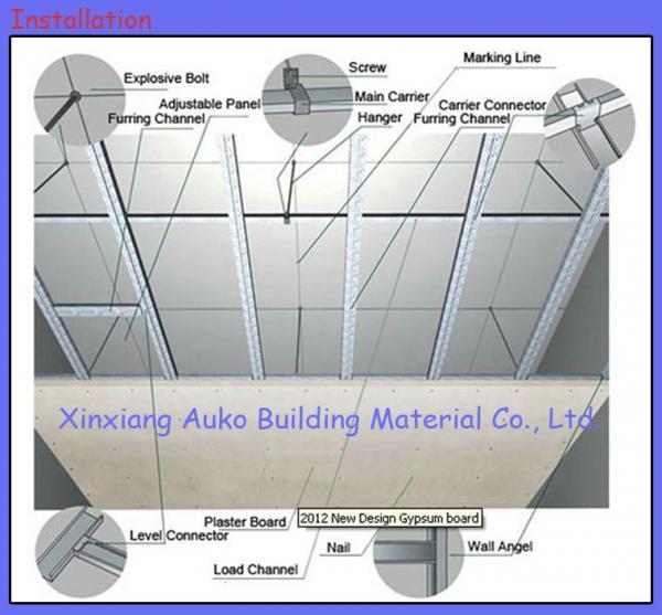 Auko Standard Gypsum Board,Plasterboard,Drywall Panels With High Quality