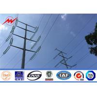 110KV 12m UV Resistant Fiberglass frp utility power pole for transmission for sale