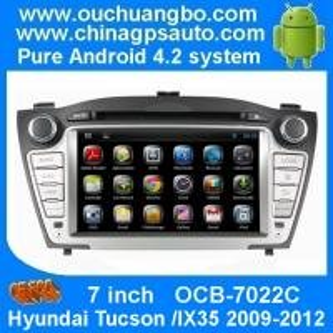 China Ouchuangbo Head Unit Car Pc Cortex A9 Dual Core Hyundai Tucson /IX35 2009-2012 Auto Radio Android 4.2 System OCB-7022C on sale