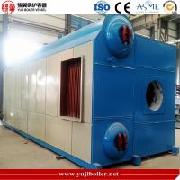 High Pressure Diesel Fired Steam Boiler , Natural Gas Fired Boiler Double Barrel Manufactures