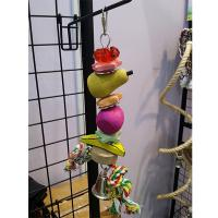 wooden fruit bird kabob toys with acrylic beads and natural treat for cockatiel Manufactures