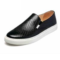 high quality black slip-up snakeskin shoes cowhide sneakers brand couples loafers lovers loafers designer loafers BS-B6 Manufactures