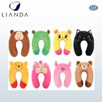 Durable Travel Neck Support Travel Pillow For Airplane , Animal Printing Customized Manufactures