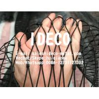 Stainless Steel Wire Rope Woven Mesh, Black Oxide Wire Rope Netting, SS Wire Cable Zoo Mesh, Animal Enclosures Webnet Manufactures