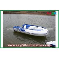 China Blue / White Heat Sealed PVC Inflatable Boats Water Racing Rigid Waterproof on sale