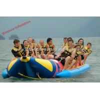 Quality 2.0mm PVC Tarpaulin Kids Inflatable Water Ski Towable Tubes In Sea / River for sale