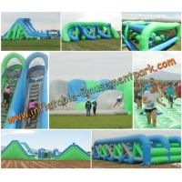 Full Set PVC Tarpaulin Inflatable Obstacle Courses Sport Games Manufactures