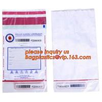 Opaque Tamper Evident Sealing Plastic Bank Money Steb Security Bag / Custom Self Adhesive Plastic Courier Bag, bagease Manufactures