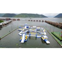 Quality 0.9mm PVC Tarpaulin Inflatable Floating Water Playground For Resort for sale