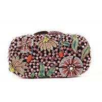 Round Shape Diamond Evening Bag , Famale Rainbow Evening Party Purse Manufactures
