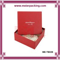 Square hat box, custom paper clothing packaging box ME-TB026 Manufactures