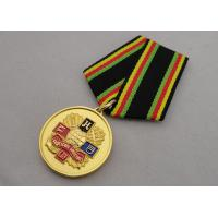Soft enamel Custom Medal Awards with Gold Plating Foggy Paint Special Ribbon Manufactures