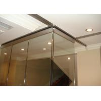 Clip Aluminum Soliding Glass Partition Wall  Top Supported For Meeting Room Manufactures