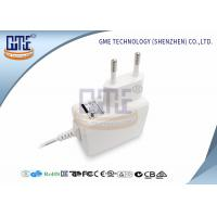 Quality Medical Grade EU Plug Power Adapter 5v 1a , White Medical Switching Adapter for sale