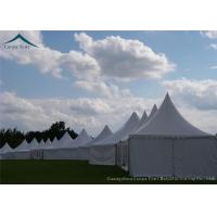 Waterproof Polyester Canvas Fabric Pagoda Tents 6mx6m Family Clear Manufactures