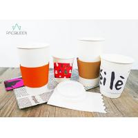 Brown Kraft / White Reusable Coffee Cup Sleeves , Cup Sleeves For Hot Drinks Manufactures