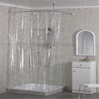 Beautiful PVC Shower Curtain , Custom Printing Waterproof Bathroom Curtains  Manufactures