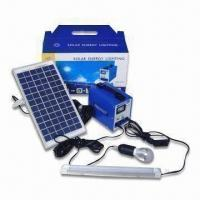 Portable Solar Lighting System with 12.5V Rated Voltage, Provides Power for Remote Area Manufactures