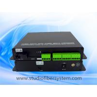 16CH analog audio fiber transmitter and receiver with Phoenix connectors for broadcast audio over SM fiber to 20~80KM Manufactures