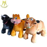 Hansel fast profits with low investment kids animal plush rides 4 wheel kid ride electric animal scooter Manufactures