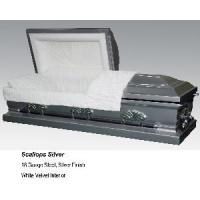 Quality Scallops Silver Casket for sale
