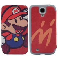 Frosted Shell Samsung Leather Phone Cases With Magnet Button , Mario phone Cover Manufactures