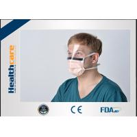 China Orange Disposable Surgical Mask With Tie and Anti Fog Visor Grand A Carbon Strip on sale