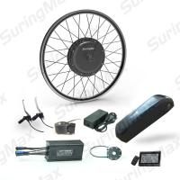 China Bldc Gearless Mountain Bike Motor Conversion Kit With 3 Years Warranty on sale